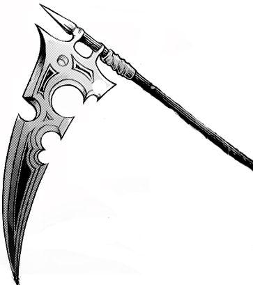 Drawn scythe demonic Death Drawing Blade Drawing Scythe
