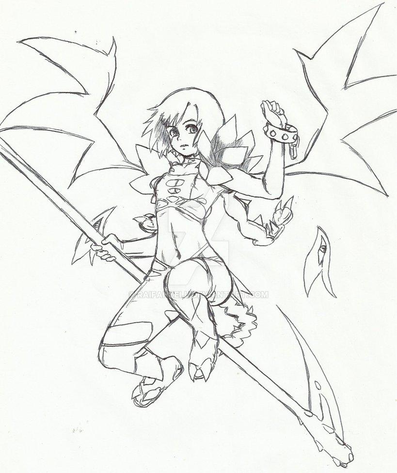 Drawn scythe demonic Demon RaifanZell DeviantArt by w