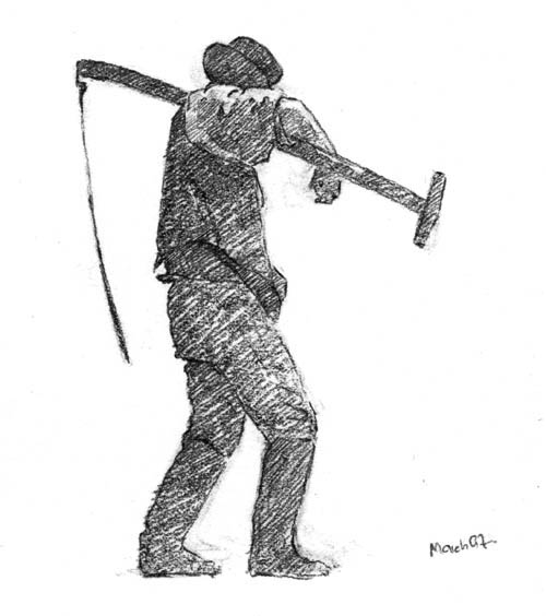 Drawn scythe different Tagged: drawings Mystery of drawings
