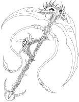 Drawn scythe different :D RubyPheonix Faye Scythe DeviantArt