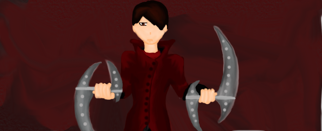 Drawn scythe double bladed Lucien on and Double