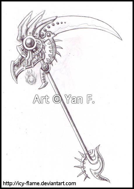 Drawn scythe double chain On Pinterest Scythe images 17