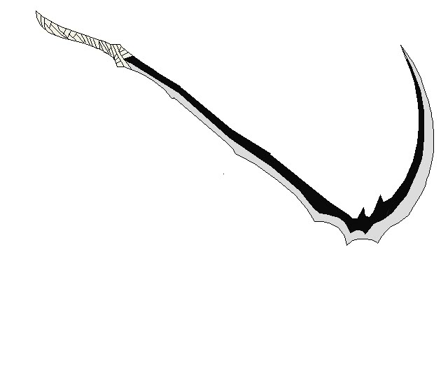 Drawn scythe double edged Scythe Us Zanpakuto pic Headed