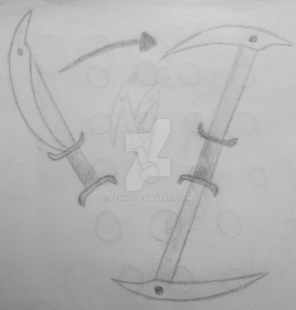 Drawn scythe double edged By Double Edged Edged DeviantArt