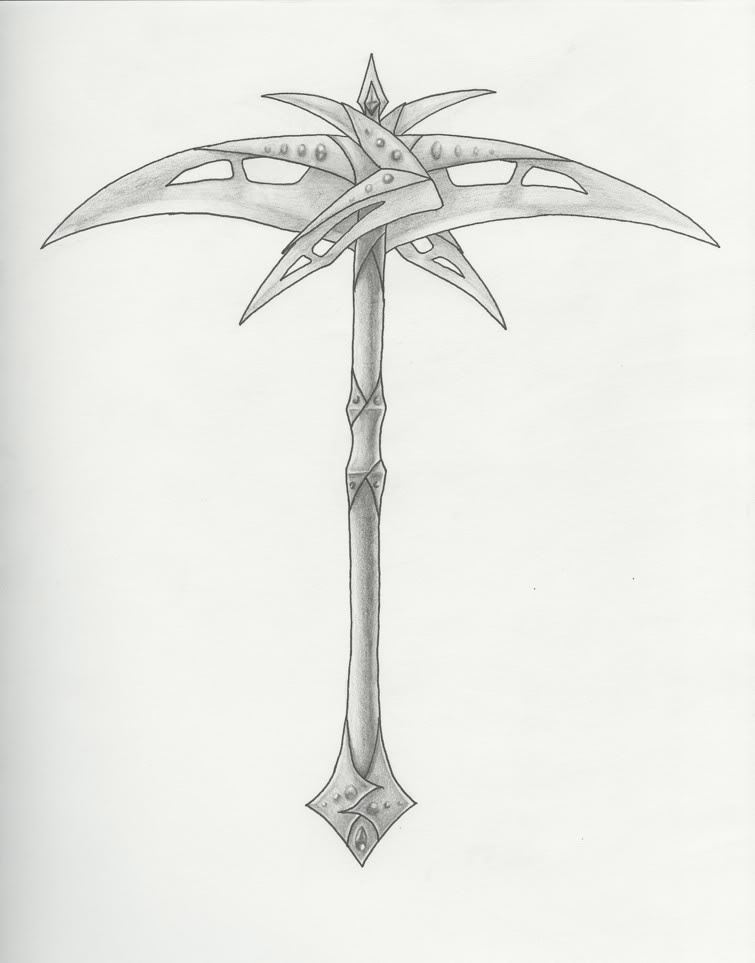 Drawn scythe double edged Image information Scythe Double T