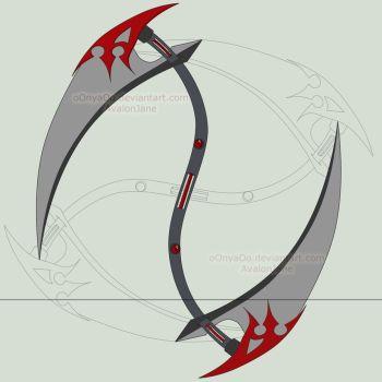 Drawn scythe double ended DeviantArt savinaswings 21 scythe on