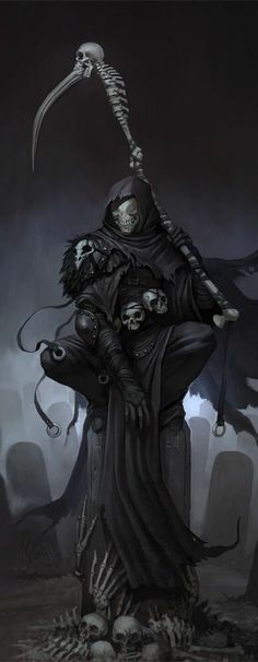 Drawn scythe double ended Double scythe Search reaper reaper