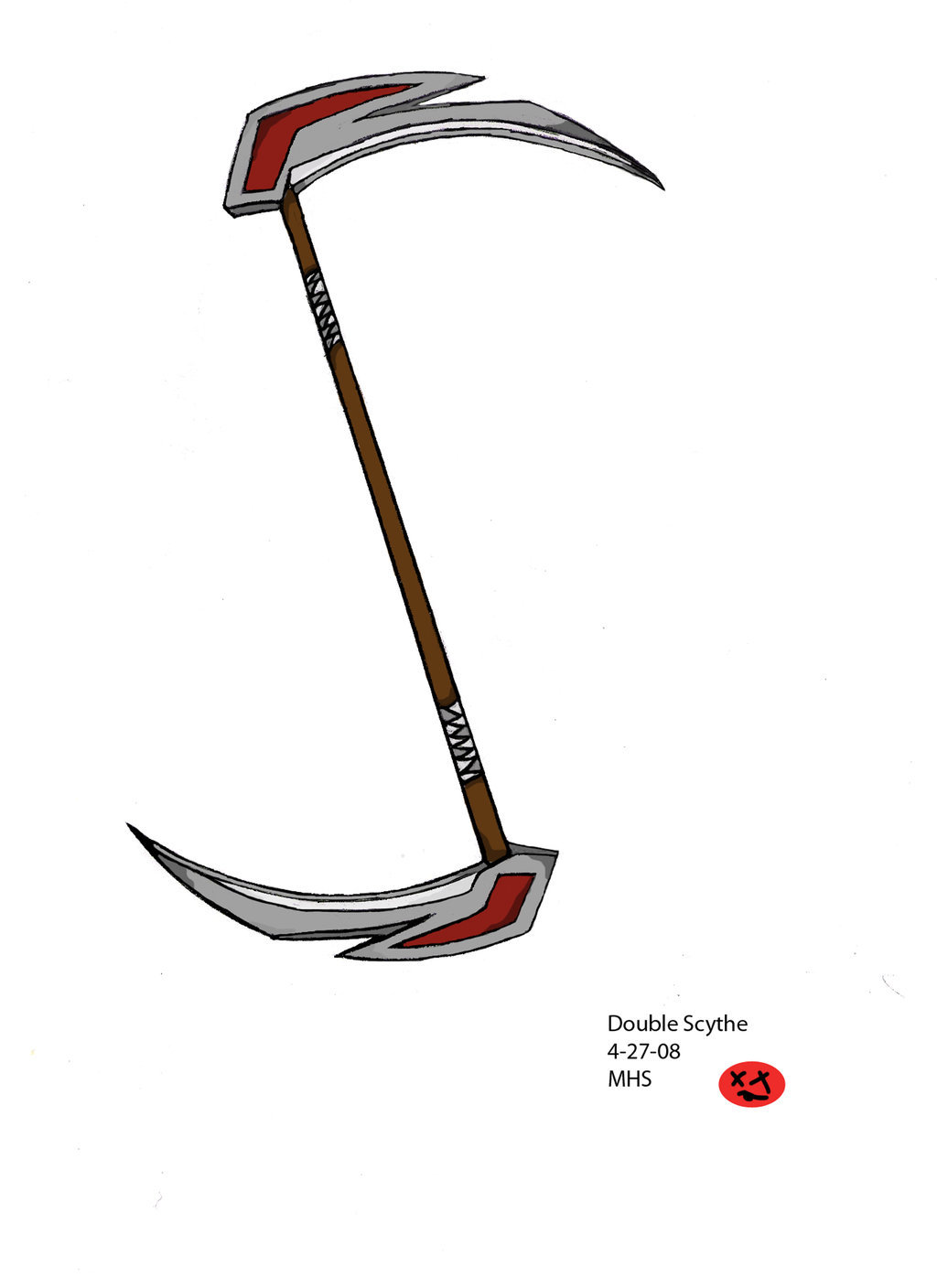 Drawn scythe double sided [Archive] 13 13 Stickpage KidDarkness's