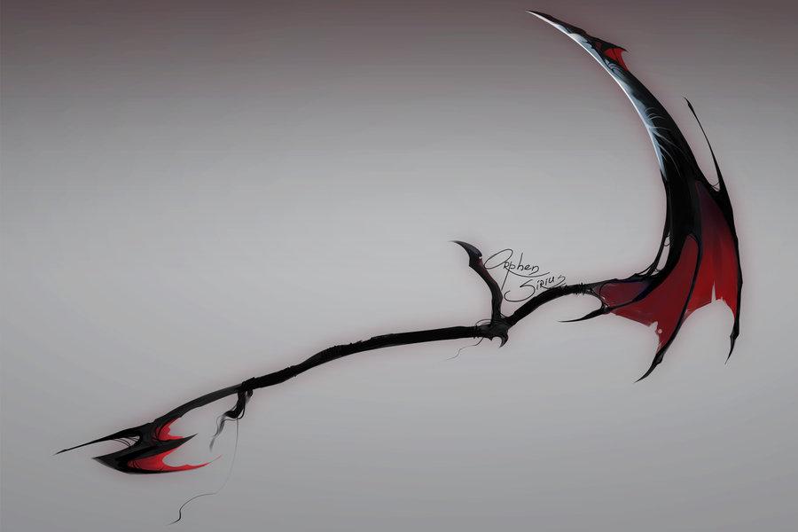 Drawn scythe dragon Orphen Pinterest Weapons Orphen by