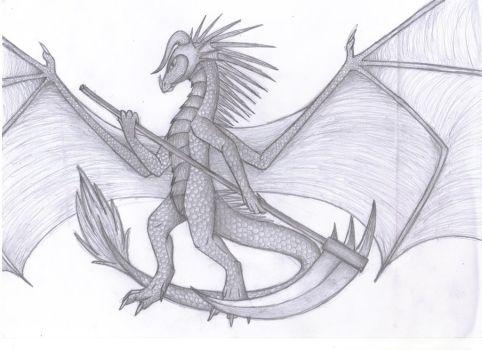 Drawn scythe dragon Blutsplitter525 dragonscythe on 2 by