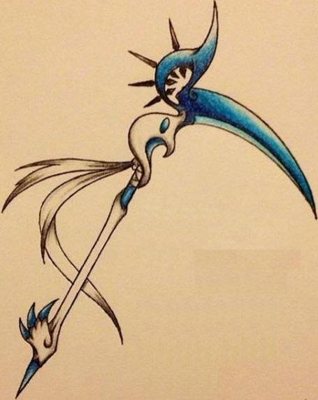 Drawn scythe dragon Sky's white & Started RE: