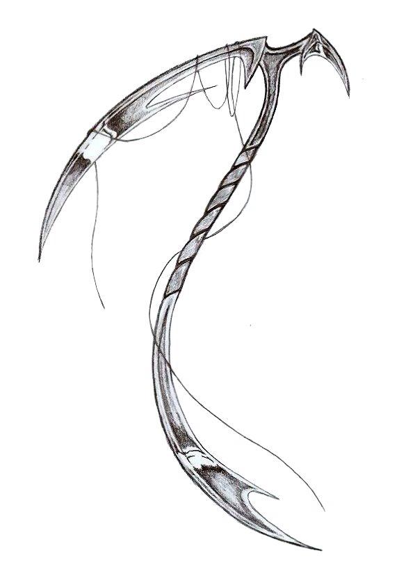 Drawn scythe dragon Weapons cool Fantasy Scythes stufff