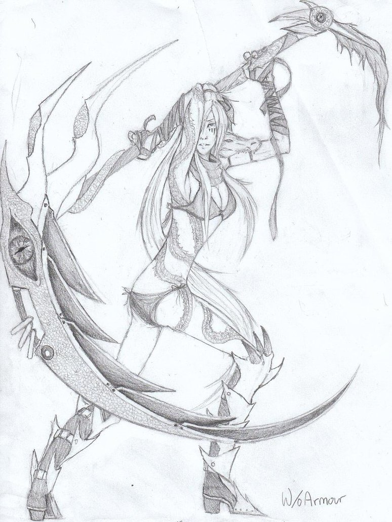 Drawn scythe dragon By DeviantArt by Scythe Scythe