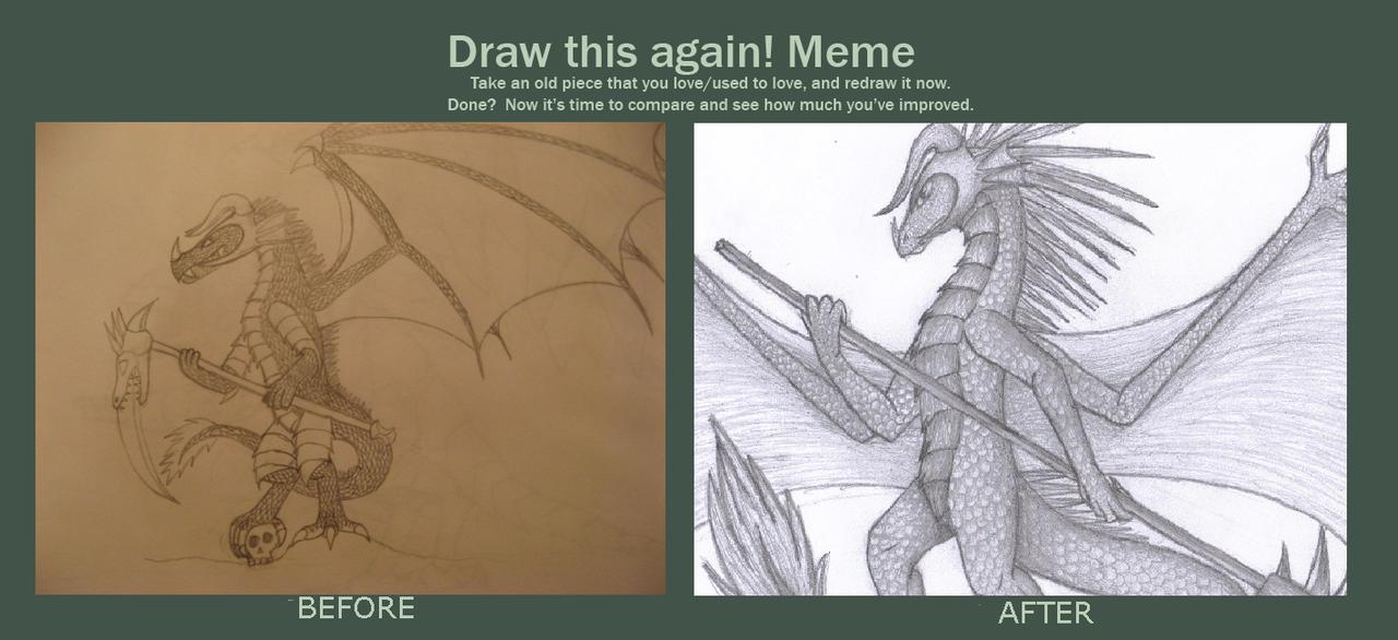 Drawn scythe dragon By this again again dragon