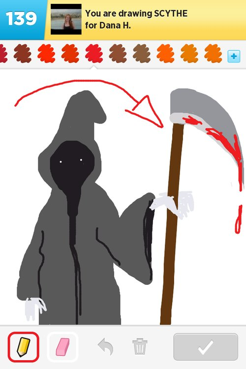 Drawn scythe drawing  Drawings Sign Best rate!