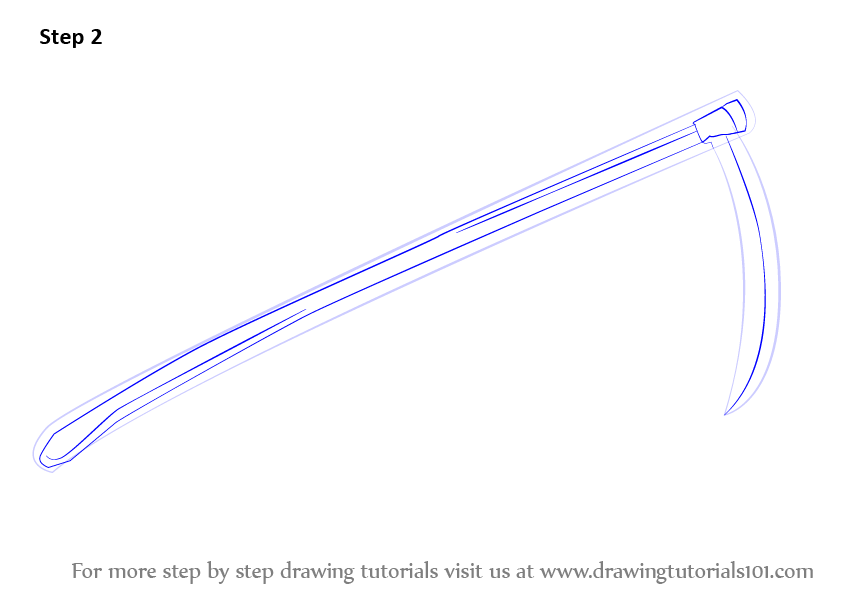 Drawn scythe drawing : it Draw Step and