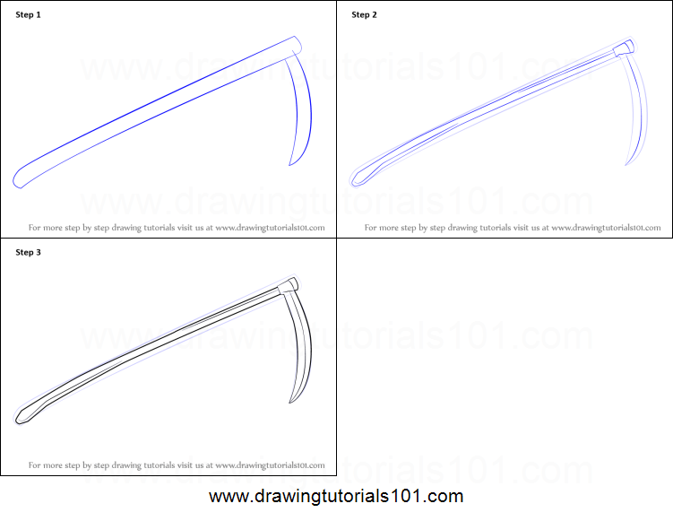 Drawn scythe drawing To How  Scythe by