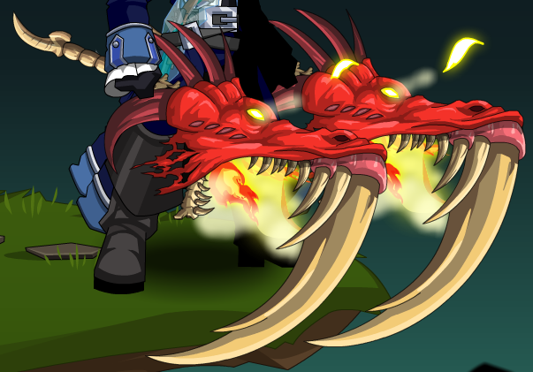Drawn scythe dual AQW Dragon png DualFlamingDragonScythes Flaming