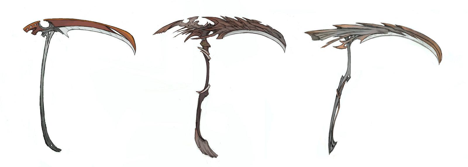Drawn scythe elemental Favourites Weapon  Alikeyla by