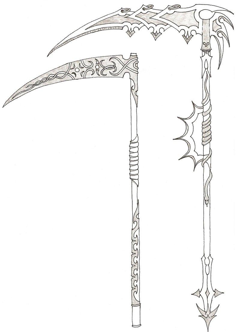 Drawn scythe elemental By scythes costom MadMother88 Elemental