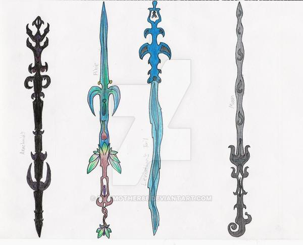 Drawn scythe elemental By Swords Elemental MadMother88 Elemental
