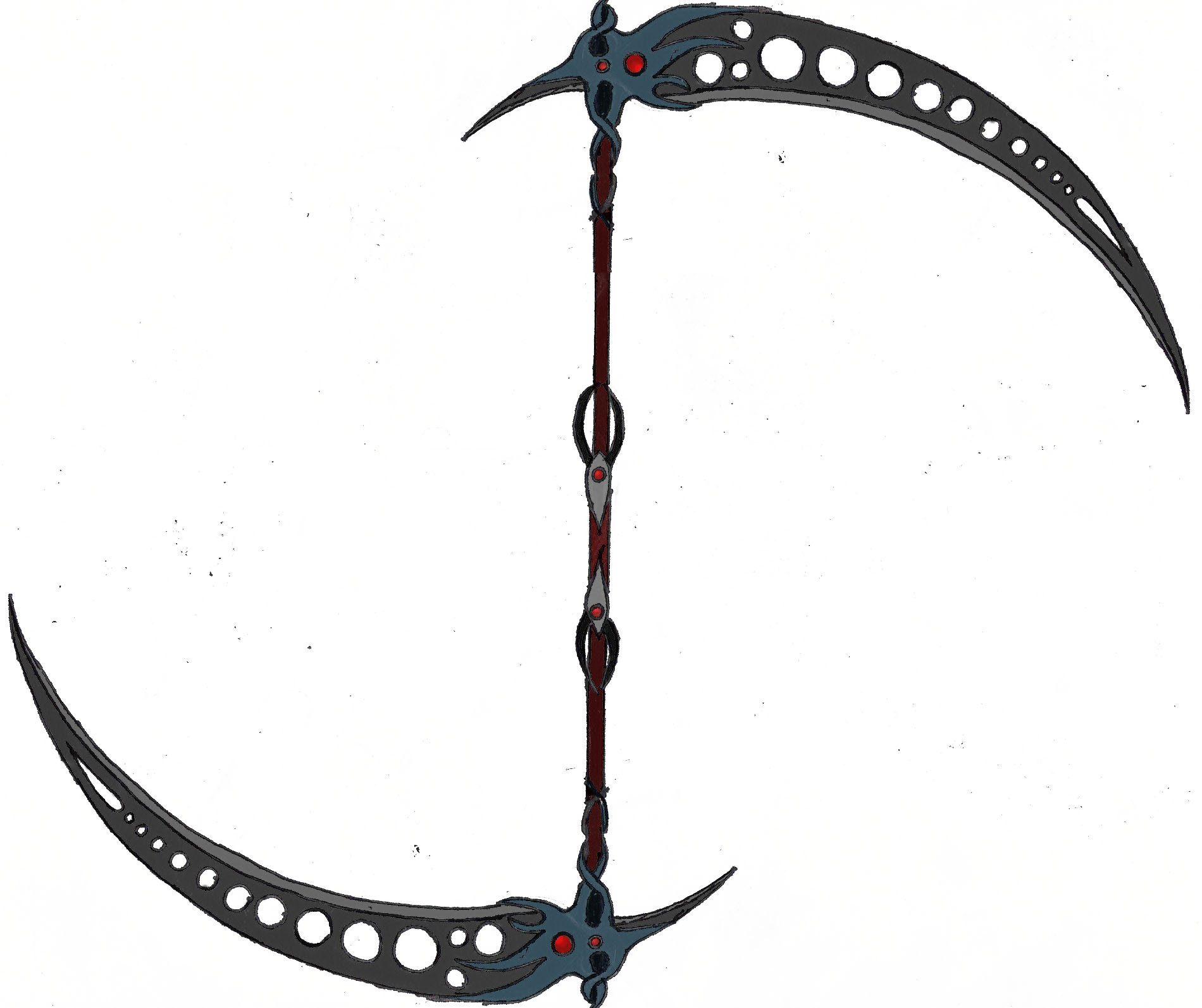 Drawn scythe epic Scythe Double AbscenceOfHeart AbscenceOfHeart Scythe
