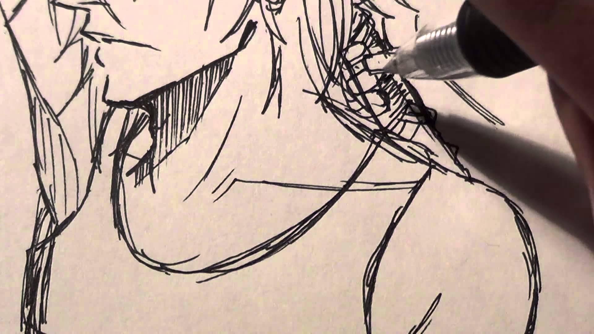 Drawn scythe epic No Seimei Pen no Timelapse