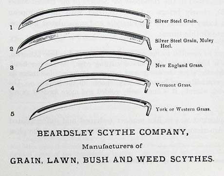 Drawn scythe farmer Scythe Yankee Farmer April article