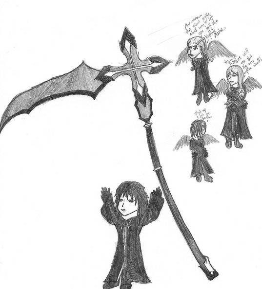 Drawn scythe giant Mar mar's by mar's Giant