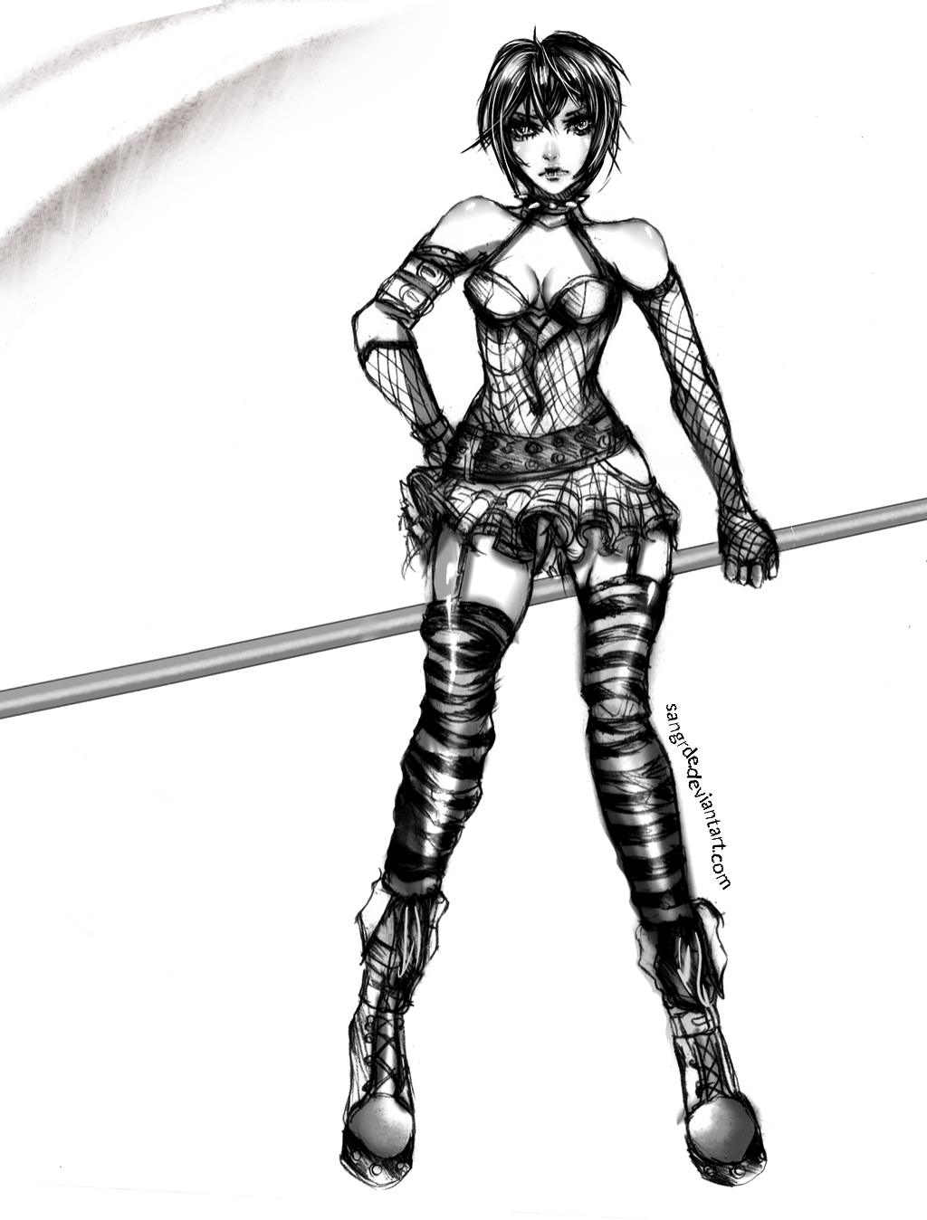 Drawn scythe gothic With sketch girl Goth