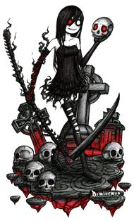 Drawn scythe gothic The drawing on this emo