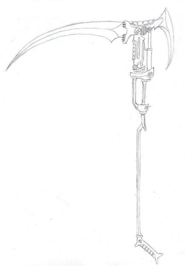 Drawn scythe gun Heat on Warkom by Warkom