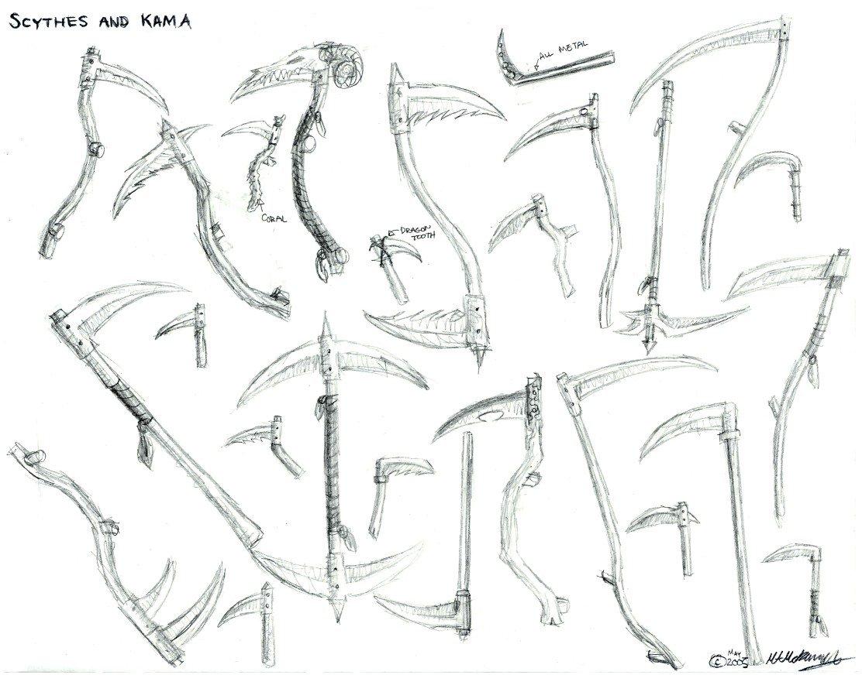 Drawn scythe gun By KupoGames Scythes Scythes by