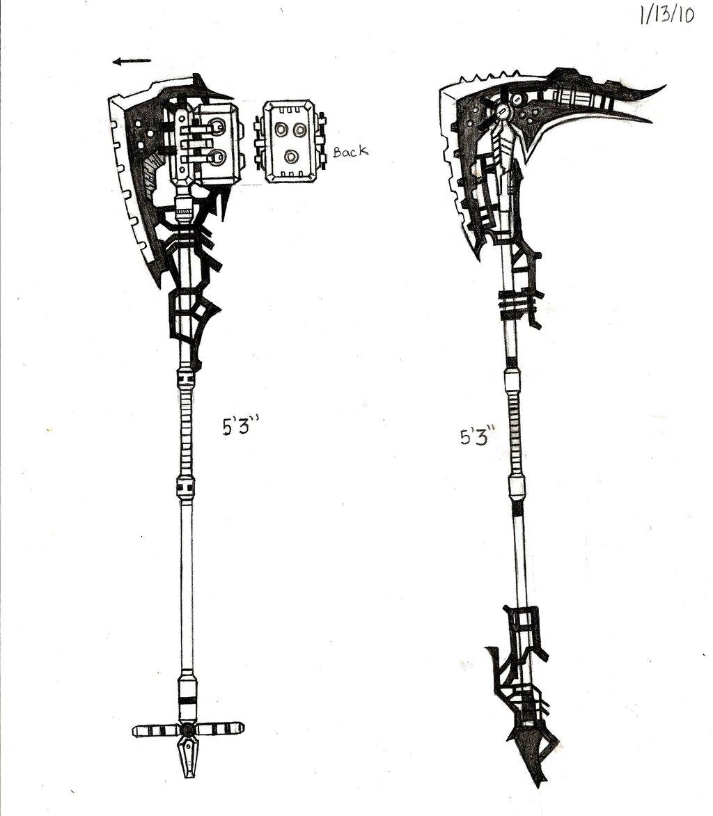 Drawn scythe gun Part DeviantArt II RedW0lf777sg RedW0lf777sg