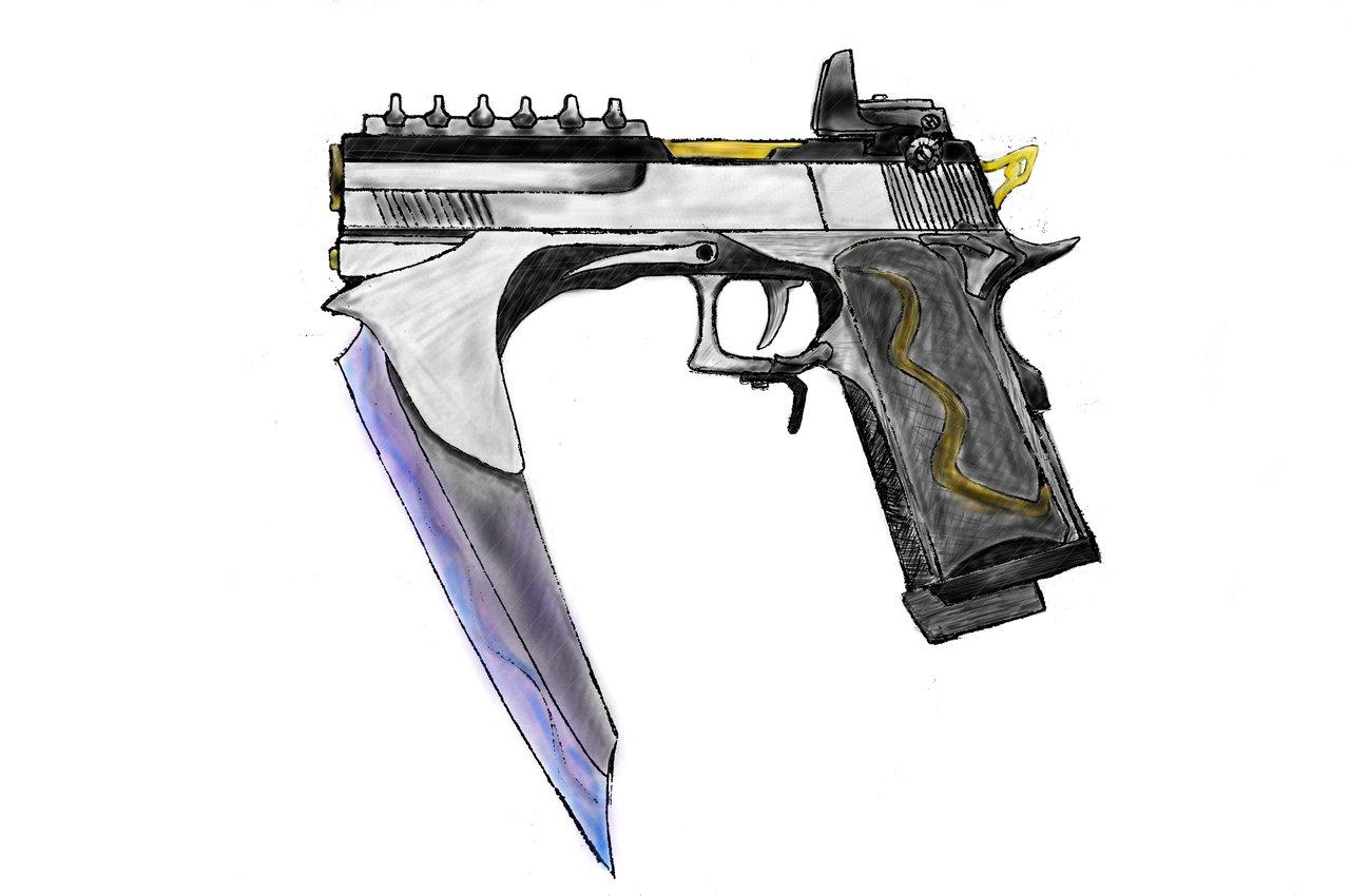 Drawn scythe gun Weijunsyu Gun Gun weijunsyu by