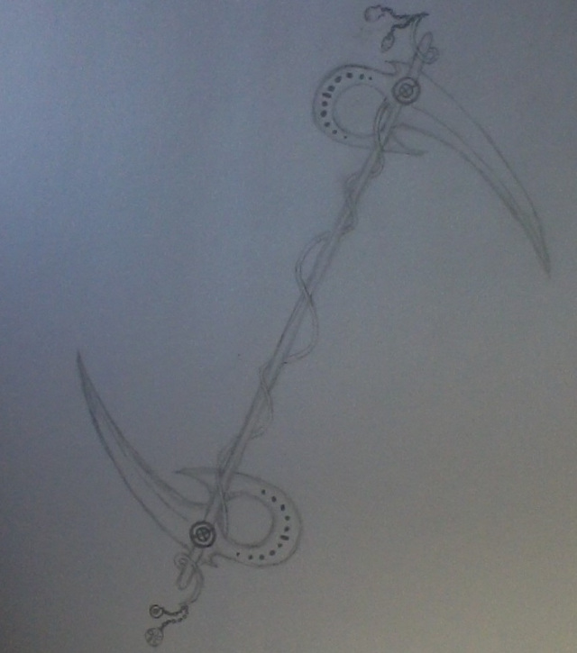 Drawn scythe headed KaniChronicles Headed  – The