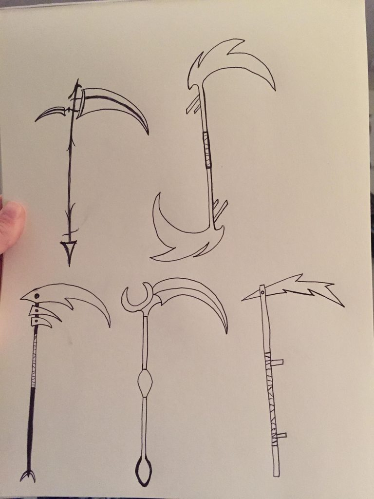 Drawn scythe headed SketchDaily 17th Scythe : Practice