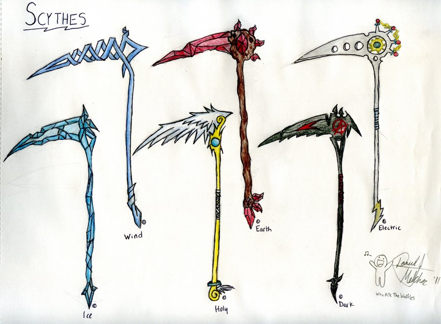 Drawn scythe holy WhoAteTheWaffles by 1 by on