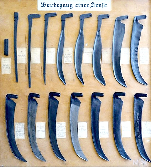 Drawn scythe huge Things scythe Making 4 Steel