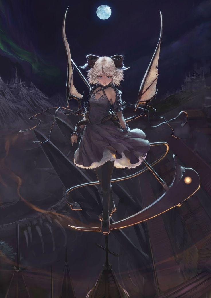Drawn scythe huge Reaper images girl on 46