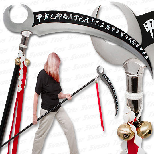 Drawn scythe huge True Coated Fantasy Sword Stunning