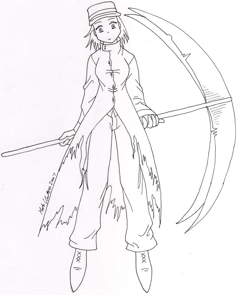 Drawn scythe ice DeviantArt HomunculusLover Warrior by Scythe