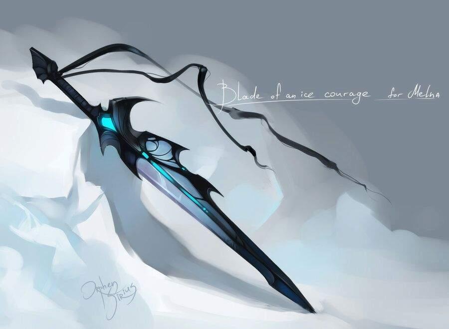 Drawn scythe ice Space Jonathan  Virtual IceBlood