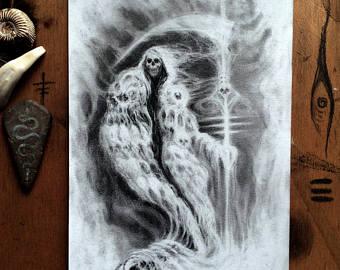 Drawn scythe ice /// Scythe Scythe Ice Reaper