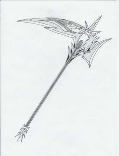 Drawn scythe ice Weapons Judgement Weapon Scythe Design