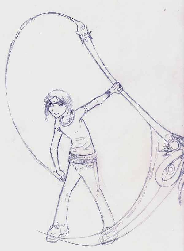 Drawn scythe ice By loki on by and