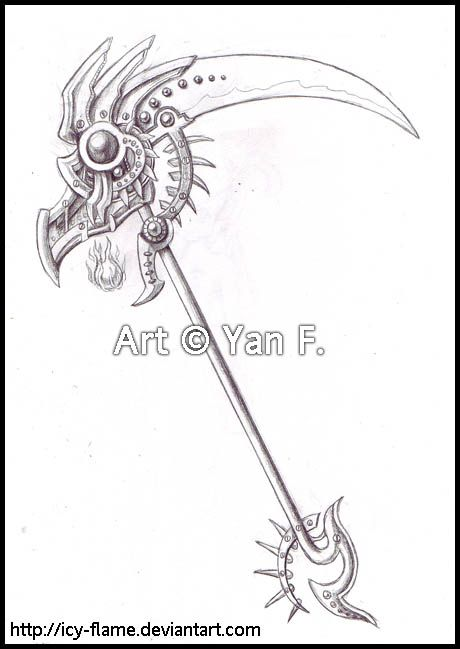 Drawn scythe magic Icy best on L&L deviantART