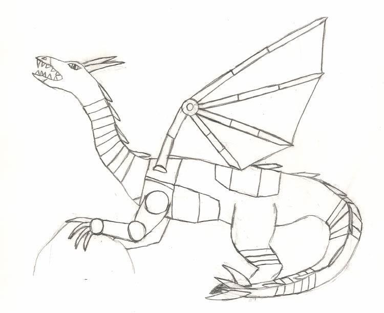 Drawn scythe mechanical On spiegelscythe spiegelscythe sketch Dragon