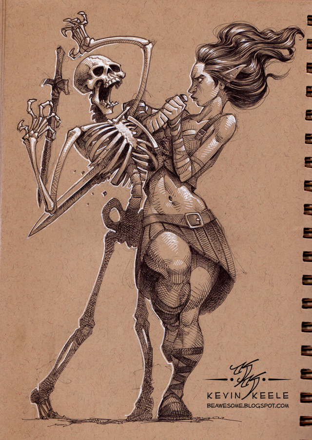 Drawn scythe mechanical Girl Lau maid Artgerm dance