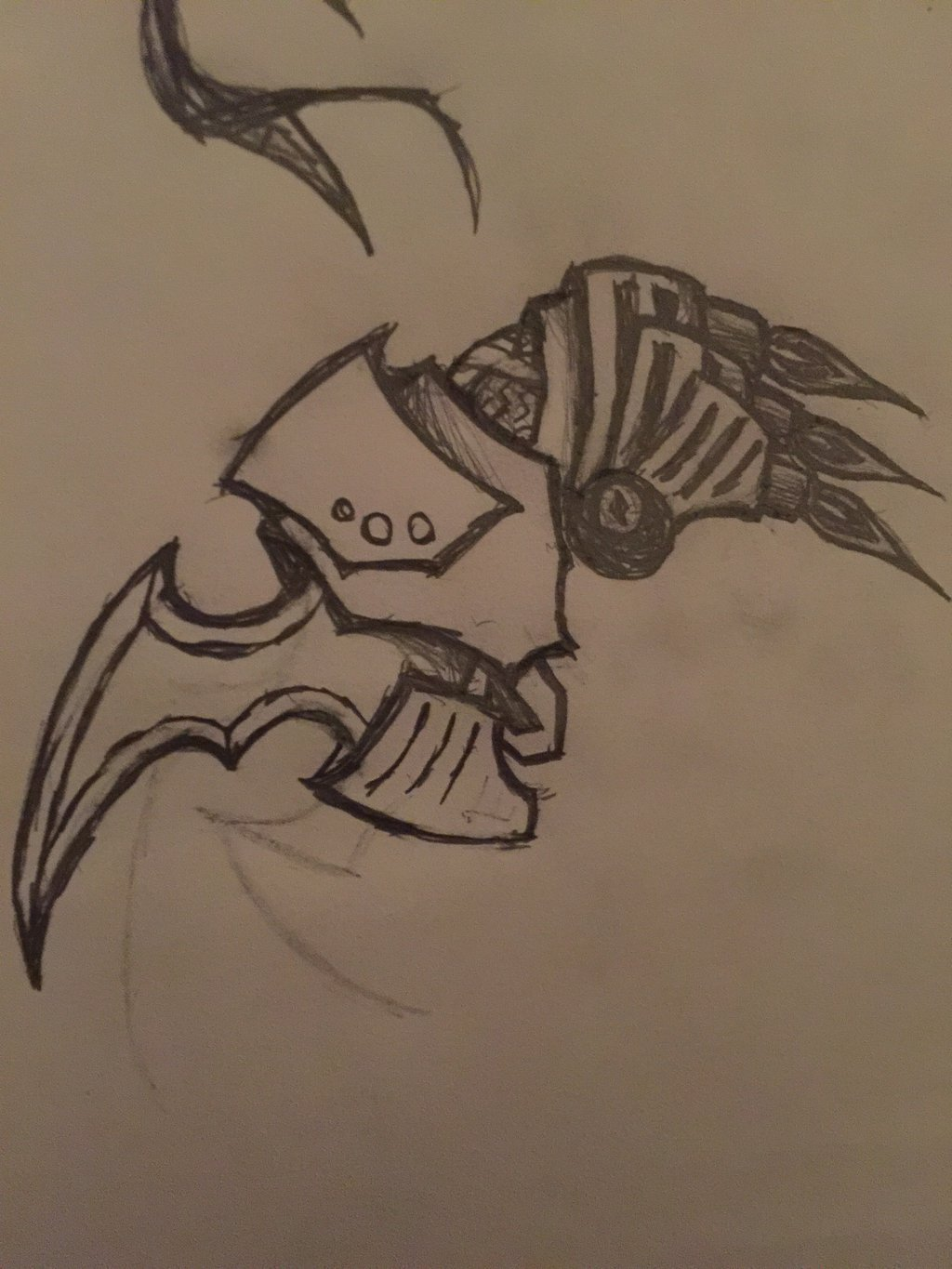 Drawn scythe mechanical By doodle Pencilist by on
